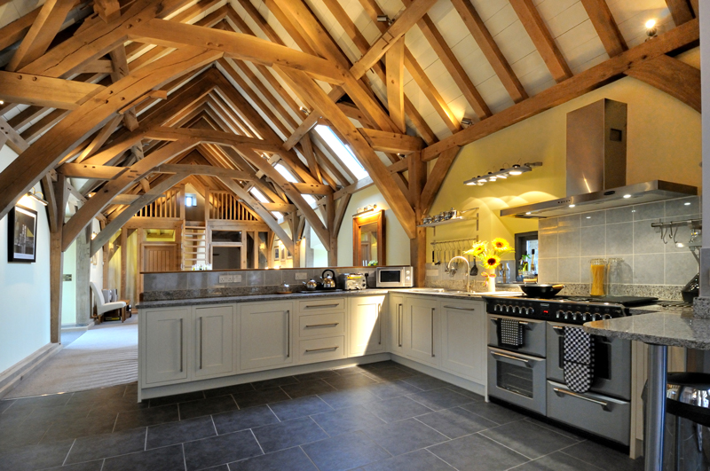 A traditionally-style oak framed new build home